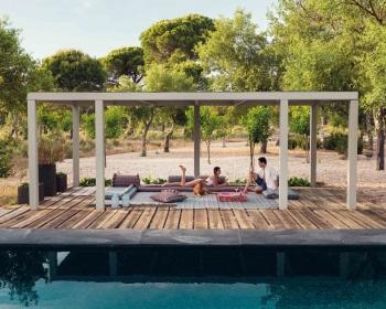 Gan designové zahradní konferenční stoly Garden Layers Side Table Terracotta Small