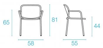 Emu designové zahradní židle Yard Armchair