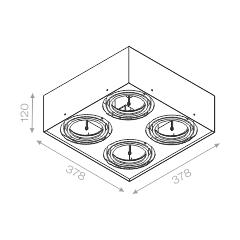 Výprodej AQUAFORM stropní svítidla Squares 111 ON (bílá)