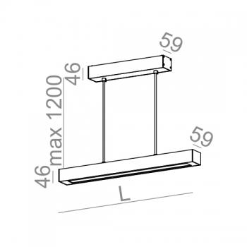 AQUAFORM závěsná svítidla Set Raw LED Suspended (57 cm)
