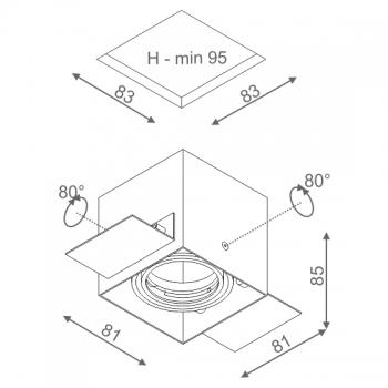 AQUAFORM vestavná svítidla Squares 50x1