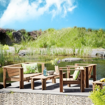 Jan Kurtz designové zahradní konferenční stoly Batten Lounge