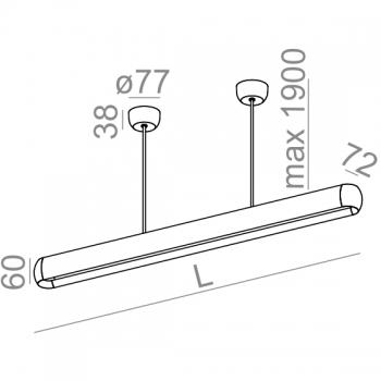 AQUAFORM závěsná svítidla Equilibra Soft LED (šířka 36 cm)