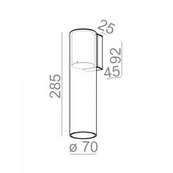 Aquaform designová nástěnná svítidla Modern Glass Tube LED 230V
