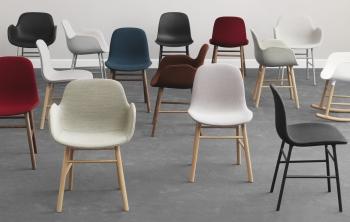 Normann Copenhagen designové židle Form Armchair Steel