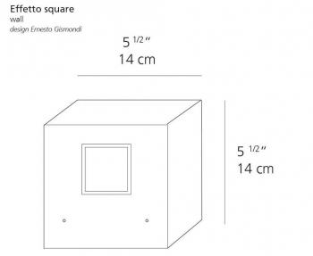 Výprodej Artemide designová nástěnná svítidla Effetto Square (bílá)