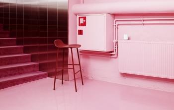 Normann Copenhagen designové barové židle Form Barstool Steel 75cm