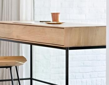 Ethnicraft designové pracovní stoly Whitebird