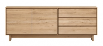 Ethnicraft designové komody Wave Sideboard - 1 door - 3 drawers