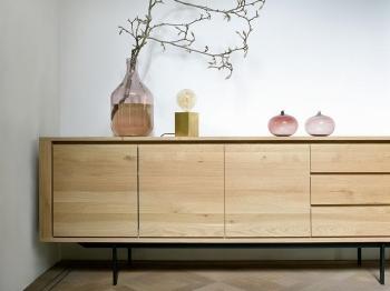 Ethnicraft designové komody Shadow Sideboard - 3 doors/ 3 drawers