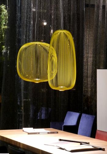 Výprodej Foscarini designová závěsná svítidla Spokes 2 (zlatá)