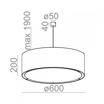 Aquaform designová závěsná svítidla Arm 40