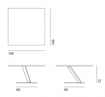 Desalto designové jídelní stoly Element Square