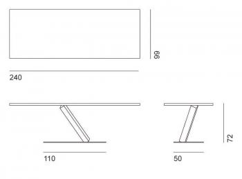 Desalto designové jídelní stoly Element Rectangular (šířka 200 cm)
