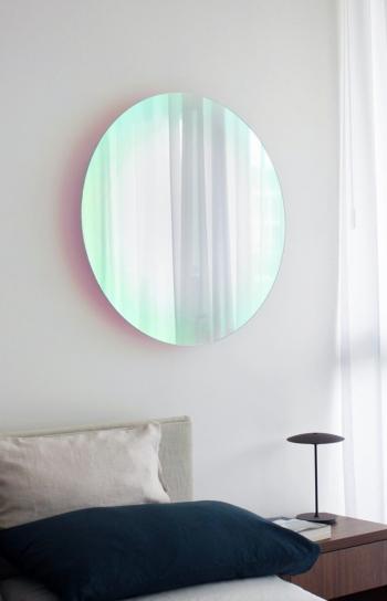 Glas Italia designová zrcadla Shimmer Mirror Round (průměr 60 cm)