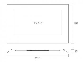 """Fiam designové televizní rámy Mirage (pro TV 43"""")"""