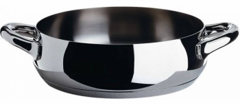 Alessi designové nízké hrnce Mami Polished (objem 170 cl)