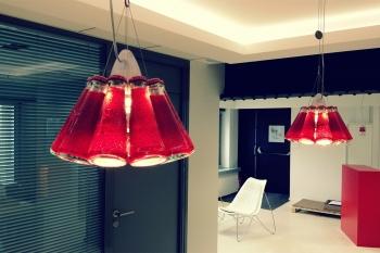 Ingo Maurer závěsná svítidla Campari Light