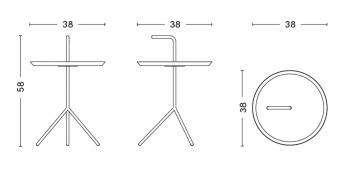 Hay designové odkládací stolky DLM Side Table