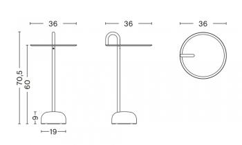 Hay designové odkládací stolky Bowler