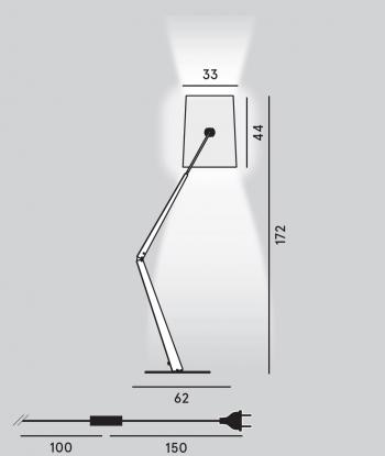 Diesel with Foscarini designové stojací lampy Fork Terra Light