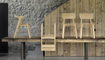 Ethnicraft designové jídelní rozkládací stoly Double Dining Table (200/300 x 100 cm)