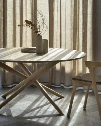 Ethnicraft jídelní stoly Mikado Dining Table Round (150 x 150 cm)