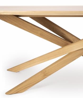 Ethnicraft jídelní stoly Mikado Dining Table Oval (267 x 138 cm)