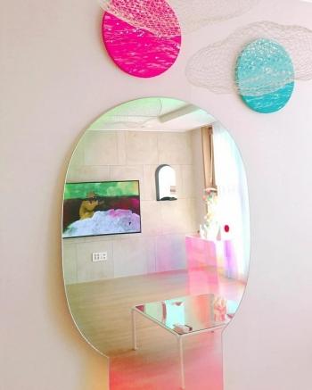 Glas Italia designová zrcadla Shimmer Mirror Big