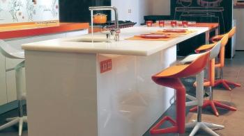 Výprodej Kartell designové barové židle Spoon Stool (černá)
