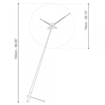 Nomon designové stolní hodiny Pisa