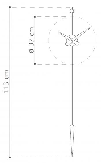 Nomon designové nástěnné hodiny Punto Y Coma