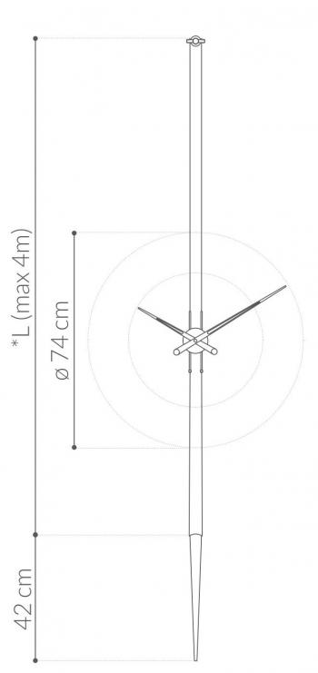 Nomon designové nástěnné hodiny Pendulo