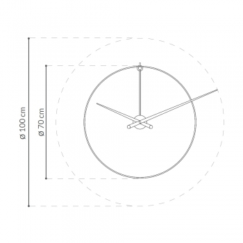 Nomon designové nástěnné hodiny New Anda