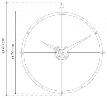 Nomon designové nástěnné hodiny Doble O