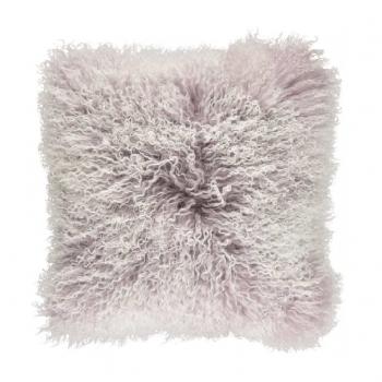 Natures Collection designové kožešinové polštáře Tibetan Sheepskin Snow Collection (40 x 40 cm)