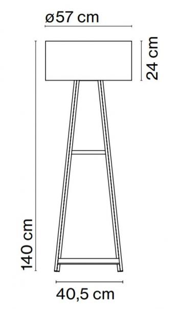 Marset designové stojací lampy Cala P140