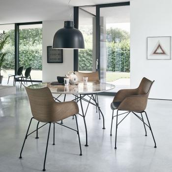 Kartell designové jídelní židle Q/Wood