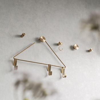 Ferm Living designové nástěnné věšáky Hook Steel Small