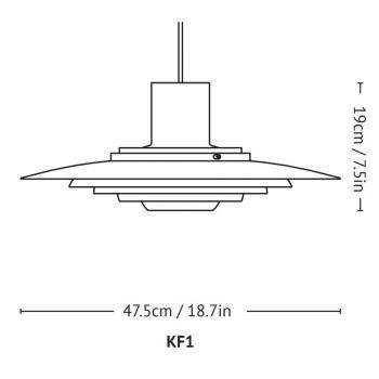 &tradition designová závěsná svítidla P376 KF1