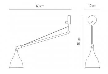 Norr 11 designová nástěnná svítidla Le Six Single Arm