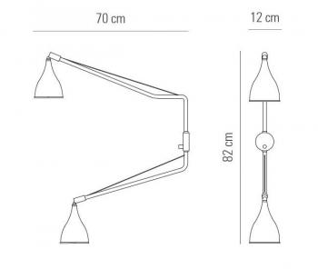 Norr 11 designová nástěnná svítidla Le Six Double Arm