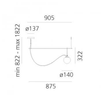 Artemide designová závěsná svítidla Nh S2 14 Suspension