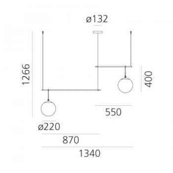 Artemide designová závěsná svítidla Nh S3 2 Arms Suspension