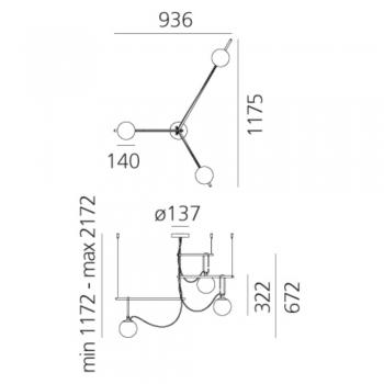 Artemide designová závěsná svítidla Nh S3 14 Suspension