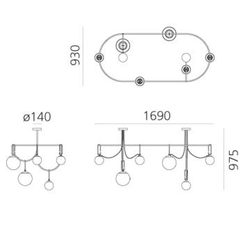 Artemide designová závěsná svítidla Nh S5 Elliptic
