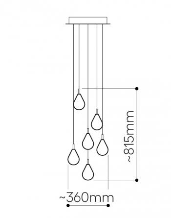 Bomma designová závěsná svítidla Soap Mini Chandelier 3