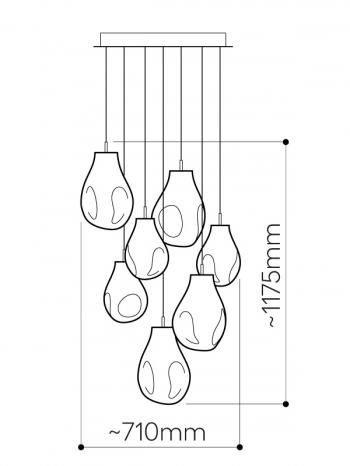 Bomma designová závěsná svítidla Soap Chandelier 3