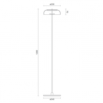 Nuura designové stojací lampy Blossi Floor (průměr 23 cm)