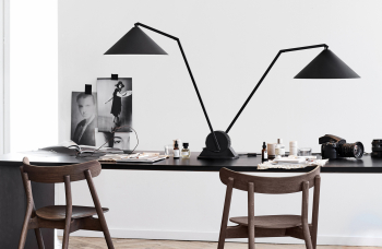 Northern designové stolní lampy Gear table double